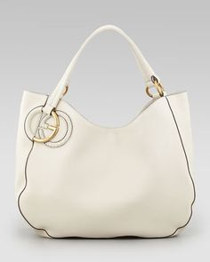 Twill Leather Large Shoulder Bag 103