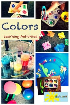 My Little Sonbeam: Color Learning Activities  Homeschool preschool color activities. Sorting, scooping, fine motor, gross motor, science, and more!  Ages 2-4  Mylittlesonbeam.blogspot.com