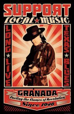 SUPPORT LOCAL MUSIC! Long Live Texas Blues! Stevie Ray Vaughn   Granada Theater   Dallas, Texas