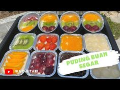 Resep Puding Buah | Ide Jualan Makanan - YouTube Pudding Desserts, Pudding Recipes, Cantaloupe, Jelly, Watermelon, Vanilla, Fruit, Tape, Food
