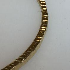 18k gold hand made bangle w texture