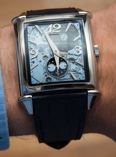 """Girard-Perregaux Vintage 1945 XXL Large Date And Moon Phases Watch Review - by David Bredan - on aBlogtoWatch.com """"Like it or not, 'vintage is in' – and while that promises plenty of tried and tested classic design elements and whatnot, many still struggle with getting this vintage revival thing right. The Girard-Perregaux Vintage 1945 XXL Large Date And Moon Phases (yes, that's the full name) is a refreshing drop in the ocean of repetitive, often not very interesting vintage-revival..."""""""