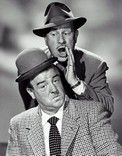 Abbott and Costello - Bud Abbott and Lou Costello, Sunday morning matinee on TV with Bud and Lou. I think them meeting Dracula, Frankenstein, the Mummy, the Werewolf and Ghost are the reason I don't like scary movies lol ;-)
