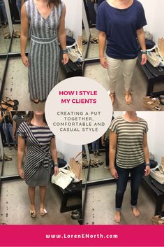Behind-the-scenes with real people and find out how I style my clients in real life. See the outfits I create from my client's wardrobes (shopping their clos. Put Together, Wardrobes, Confident, What To Wear, Style Me, Challenges, Age, Goals, Shirt Dress