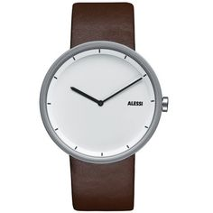 Alessi Out Time Watch AL13001 White & Brown