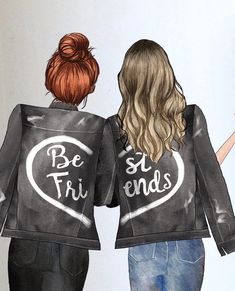 Besties, Bff, Android Wallpaper Black, Friends Clipart, Best Friend Wallpaper, Best Friends, Clip Art, Style Inspiration, Draw