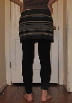 Recycled wool bum warming skirt