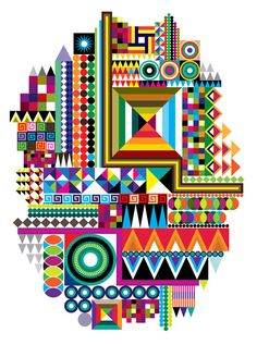 Absolutely love this colorful geometric pattern geometric art, geometric pattern design, pattern art, Geometric Patterns, Geometric Designs, Geometric Art, Textures Patterns, Graphic Patterns, Color Patterns, Art Et Design, Design Color, Posca Art
