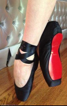Loboutin ballerina's for Dita von Teese! AMAZING!!!!!