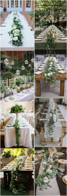 18 Rustic Greenery Wedding Table Decorations You Will Love!- 18 Rustic Greenery Wedding Table Decorations You Will Love! 18 Rustic Greenery Wedding Table Decorations You Will Love! Wedding Reception Centerpieces, Wedding Table Flowers, Wedding Table Settings, Wedding Reception Decorations, Wedding Ideas, Table Centerpieces, Table Wedding, Reception Ideas, Wedding Receptions