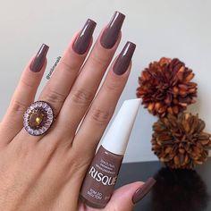 Gostou clica na foto duas vezes 😍 Siga❤️ Siga❤️ . Luxury Nails, Manicure And Pedicure, Manicure Ideas, Perfect Nails, Nail Arts, Nail Inspo, Nails Inspiration, Beauty Nails, Jelsa