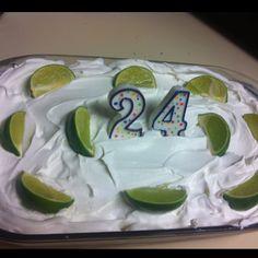 Margarita cake I made for my roommates 24th birthday!!