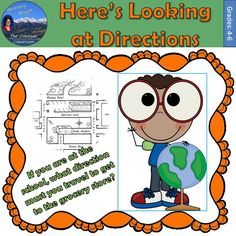 Here's Looking at Directions is a basic worksheet to practice direction skills with both cardinal and intermediate directions. Practice naming directions, locating places based on directional cues, making choices, and identifying cardinal versus intermediate directions with this free worksheet.