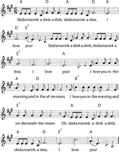 Skidamarink song lyrics... Tell me I'm not the only one who knows this song!