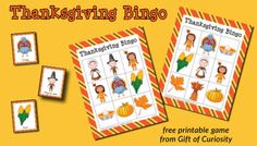 Free printable Thanksgiving Bingo game for up to 10 players. Great for building Thanksgiving-related vocabulary, or just for having some holiday fun!