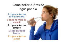 Dica de como beber 2 litros de água por dia