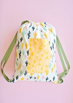EASY SEWING WITH KIDS: 30 MINUTE DRAWSTRING FABRIC BACKPACK