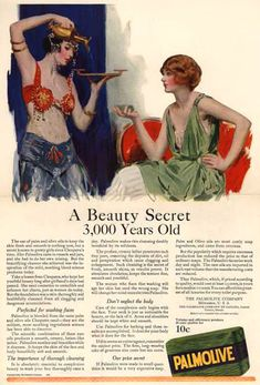Palmolive Soap 3000 Year Old Secret 1922 - Mad Men Art: The 1891-1970 Vintage Advertisement Art Collection