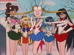 Look at Sailor Moon go! XD oh gosh Sailor Mars!