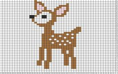 Tricksy Knitter Charts: Bambi by Granny D Small Cross Stitch, Cross Stitch Animals, Cross Stitch Charts, Cross Stitch Designs, Cross Stitch Patterns, Cross Stitching, Cross Stitch Embroidery, Embroidery Patterns, Knitting Charts