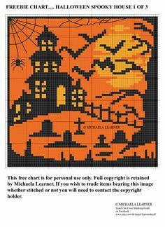 Halloween Embroidery, Halloween Cross Stitches, Simple Cross Stitch, Cross Stitch Charts, Blackwork Embroidery, Cross Stitch Embroidery, Modern Cross Stitch Patterns, Cross Stitch Designs, Chat Halloween