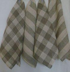 Linen dish towels kitchen towel  vintage look by LinenWoolRainbow