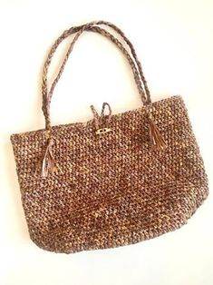 Beach Bound Straw Bag Crochet Pattern Beach Tote Straw Bag | Etsy