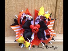 """HOW TO: Make a """"Stacked Boutique Bow"""" Tutorial - YouTube"""