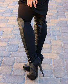 Love my over the knee boots! #stevemadden