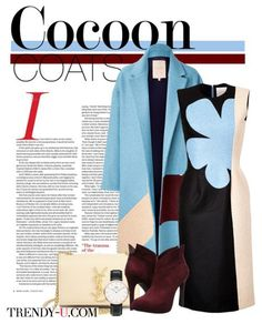 Пальто-кокон и платье