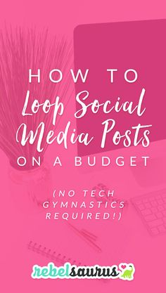 When looping social media posts came out a few years ago, I was one of the first to jump on the bandwagon with a popular scheduling tool. And while I loved it, it was pretty pricey. Then, many years later, a new tool came out with a looping feature so you can build up a library of social media updates and recycle them automatically. Here's how to loop social media posts on a budget (with no tech gymnastics required!).