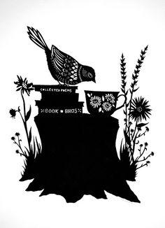 Book of Birds - Cut Paper Art by ruralpearl, via Flickr