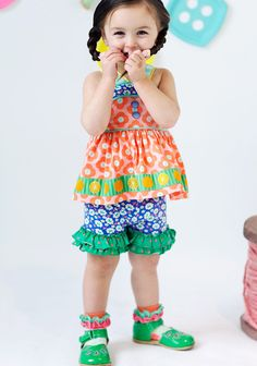 0614256690e2 Matilda Jane popover shorties size 6. Happy and Free collection Baby Girl  Tops, Baby