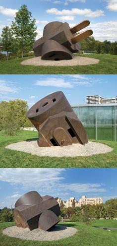 """Giant Three-Way Plug (Cube Top),"" 1970, by Claes Oldenburg © Claes Oldenburg"