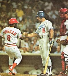 Joe Morgan & Steve Garvey 1977 All Star Game Famous Baseball Players, Pro Baseball, Dodgers Baseball, Baseball Cards, Baseball Wall, Angels Baseball, Baseball Stuff, Football, Mlb