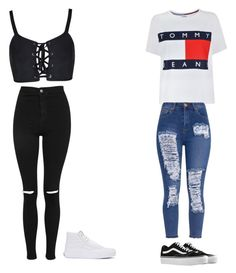 """Ahhhhhh"" by maliyah-wbms on Polyvore featuring Tommy Hilfiger, Vans and Topshop"