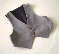 Navy Tweed Baby Vest size 2 years One of a by ClassicBabyWhites, $45.00