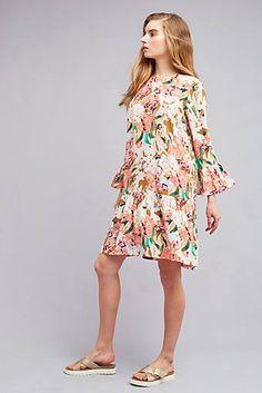 Zohra Silk Peplum Dress, Pink