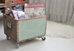 diy chalkboard wooden box