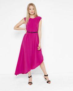 Asymmetric draped dress - Fuchsia   Dresses   Ted Baker UK