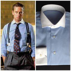 Try this one for your next job interview ... Gordon Gekko style. #wallstreet #gordongekko #menswear #custom #bespoke #shirt