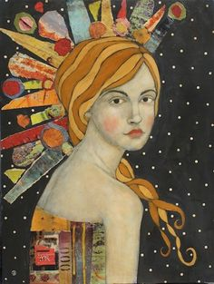 love the polka dot background in this one by Jane DesRosier