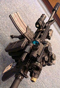 Build Your Sick Custom Assault Rifle Firearm With This Web Interactive Firearm Gun Builder with ALL the Industry Parts - See it yourself before you buy any parts Aegis Gears Assault Weapon, Assault Rifle, Weapons Guns, Guns And Ammo, Rifles, Custom Guns, Custom Ar, M4 Carbine, Weapon Storage
