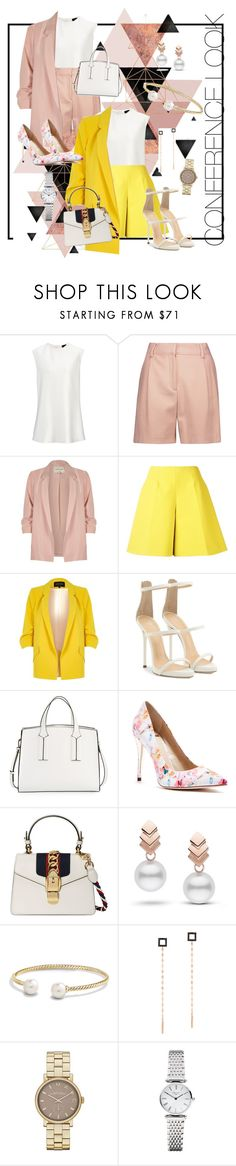 """""""Formal Attire for Conference :)"""" by bristyadwi ❤ liked on Polyvore featuring McQ by Alexander McQueen, River Island, Delpozo, Giuseppe Zanotti, French Connection, GUESS by Marciano, Gucci, Escalier, David Yurman and Lana"""