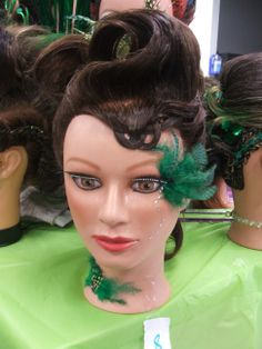 Student hair and makeup done for St. Patrick's Day at our North Austin campus.  For more pictures check out www.Facebook.com/BellaBeautyCollegeNorth