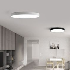 Awesome Living Room Simple Led Ceiling Lights - Teraion Home Design Glass Panel Door, Glass Panels, Led Ceiling Lights, Room Lights, Kitchen Cabinet Doors, Living Room Lighting, House Rooms, Modern Lighting, Chandeliers