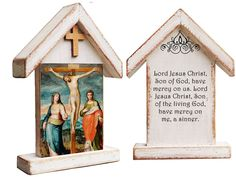 Jesus crucifixion, Way of the Cross, oratory room, religious art, catholic item, Jesus Christ, gifts for mom Crucifixion Of Jesus, Jesus Christ, Catholic Crucifix, Name Day, First Holy Communion, Son Of God, Religious Art, Painting On Wood, A Table