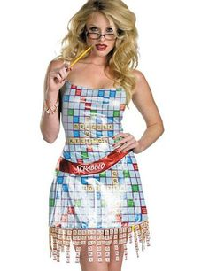 scrabble is my favorite game but im pretty damn sure i could come up with a better scrabble themed halloween costume than this slutty monstrosity - Board Games Halloween Costumes