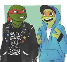 Raph & Mikey in Street Clothes. :) maybe the cutest thing I've seen!