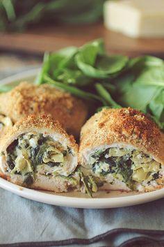 Spinach Artichoke Stuffed Chicken Breasts
